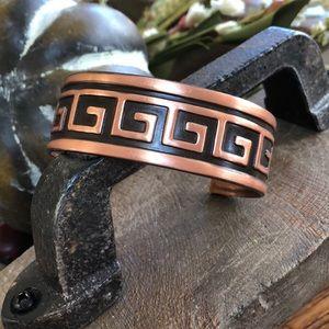 Jewelry - Vintage solid copper cuff bracelet